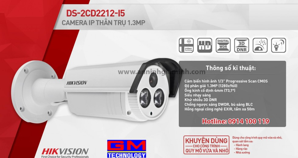 Camera IP DS-2CD2212-I5